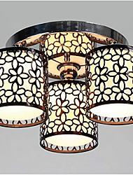 Недорогие -Lightinthebox 3-Light Монтаж заподлицо Рассеянное освещение Окрашенные отделки Металл Ткань Мини 110-120Вольт / 220-240Вольт Лампочки не включены / E26 / E27