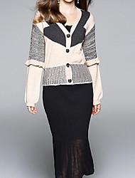 povoljno -Žene Sofisticirano Set - Color block Suknja