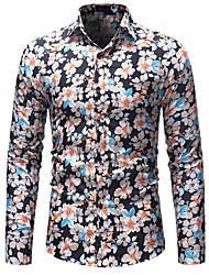 Недорогие -мужская рубашка - цветочный воротник рубашки