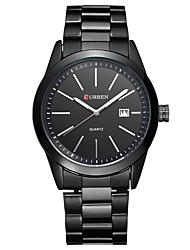 Недорогие -Муж. Нарядные часы Кварцевый Черный Защита от влаги Календарь Аналоговый На каждый день Мода - Черный Черный / Белый