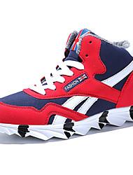 Недорогие -Муж. Комфортная обувь Искусственная кожа Зима Кеды Сохраняет тепло Черный / Красный / Синий