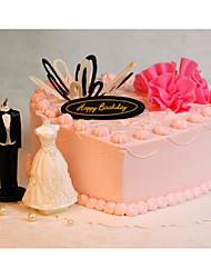 Недорогие -Креатив Свечи сувениры - 2 pcs Украшения для торта / Воск Подарочная коробка Все сезоны