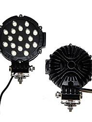 Недорогие -OTOLAMPARA 2pcs Автомобиль Лампы 51 W Высокомощный LED 5100 lm 17 Светодиодная лампа Рабочее освещение Назначение Toyota / Suzuki / Mitsubishi L300 / Pajero / Land Cruiser