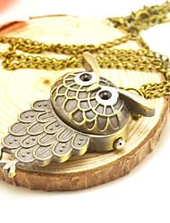 Недорогие -Для пары Карманные часы Кварцевый Повседневные часы Милый сплав Группа Аналоговый Винтаж На каждый день Титановый сплав - Золотой