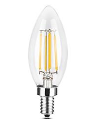Недорогие -YWXLIGHT® 1шт 4 W 300-400 lm E14 LED лампы в форме свечи / LED лампы накаливания C35 4 Светодиодные бусины COB Диммируемая Тёплый белый / Холодный белый 220-240 V