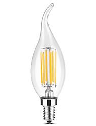 Недорогие -YWXLIGHT® 1шт 6 W 500-600 lm E14 LED лампы в форме свечи / LED лампы накаливания C35 6 Светодиодные бусины COB Тёплый белый / Белый 220-240 V