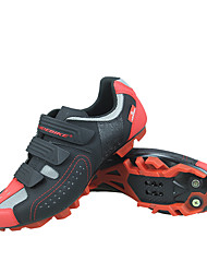 Недорогие -SIDEBIKE Взрослые Обувь для горного велосипеда Дышащий Противозаносный Амортизация Велосипедный спорт / Велоспорт Для велоспорта Черный / красный Муж. Обувь для велоспорта / Вентиляция / Вентиляция