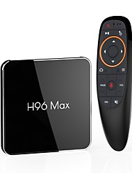 Недорогие -H96 max 4G-32G 语音版 TV Box Android 8.1 TV Box Amlogic S905X2 4GB RAM 32Гб ROM Quad Core Новый дизайн