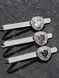 رخيصةأون -رجالي التعادل كليب كلاسيكي حجر الراين / سبيكة مناسب للبس اليومي / رسمي Tie Bar / مكعب زركونيا