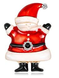 Недорогие -Жен. 3D Броши - Костюмы Санта Клауса Простой, Мультяшная тематика Брошь Золотой Назначение Рождество / Повседневные