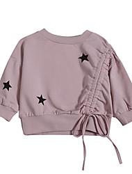 tanie -Dzieci Dla dziewczynek Aktywny Nadruk Długi rękaw Poliester Bluzy Rumiany róż