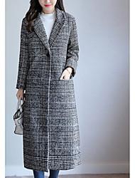 Недорогие -Жен. Пальто Активный - Клетки