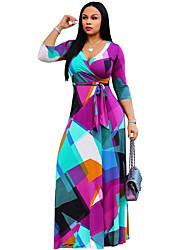 Недорогие -женская женская одежда с высокой талией maxi v neck