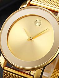Недорогие -Муж. Наручные часы Японский Японский кварц Нержавеющая сталь Черный / Серебристый металл / Золотистый 30 m Творчество Новый дизайн Повседневные часы Аналоговый Мода минималист -  / Два года