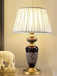 abordables -Artistique Décorative Lampe de Table Pour Chambre à coucher / Bureau / Bureau de maison Céramique 220V