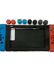 Недорогие -Комплекты игровых аксессуаров Назначение Nintendo Переключатель ,  обожаемый Комплекты игровых аксессуаров Силикон 11 pcs Ед. изм