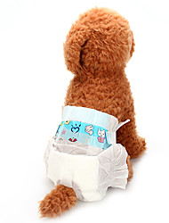 abordables -Chiens Santé / Pantalons / Nettoyage Vêtements pour Chien Couleur Pleine Blanc Mélange de Coton / Non-tissé Costume Pour les animaux domestiques Unisexe Animaux / Ordinaire