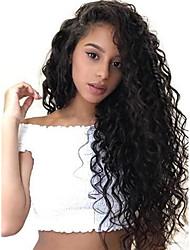 Недорогие -человеческие волосы Remy 6x13 Тип замка Лента спереди Парик Бразильские волосы Loose Curl Парик Глубокое разделение 150% 180% Плотность волос Лучшее качество Толстые Природные волосы с клипом Glueless