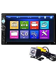 abordables -7 pouces bluetooth v2.0 voiture audio voiture dvd mp5 lecteur avec vue arrière machine 7010b