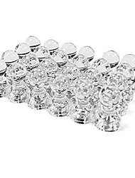 abordables -24 punaises magnétiques transparentes, parfaites pour les tableaux, les tableaux d'affichage des réfrigérateurs