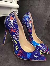 Недорогие -Жен. Полиуретан Весна На каждый день Обувь на каблуках На шпильке Белый / Черный / Синий