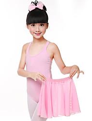 billiga -Balett Outfits Flickor Träning / Prestanda Bomull / Elastan / Chiffong Veckad Ärmlös Kjolar / Trikå / Onesie