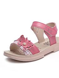 رخيصةأون -للفتيات أحذية مجهرية الصيف مريح صنادل إلى طفل صغير أحمر / زهري