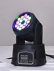 Недорогие -сценическое освещение новый мини светодиодный 18 маленькие движущиеся головные фонари красочный номинальный луч света свет смешивания цветов огни свадьбы качая голову крася бар свет