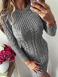 Недорогие -Жен. Классический Обтягивающие Облегающий силуэт Трикотаж Платье Трикотаж Скрученный До колена