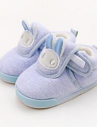 Недорогие -Мальчики / Девочки Обувь Хлопок Зима Обувь для малышей / Меховая подкладка Ботинки На липучках для Дети Розовый / Светло-синий / Миндальный