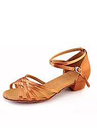Недорогие -Девочки Танцевальная обувь Эластичная ткань Обувь для латины Ленты / Рюши / Цветы На плоской подошве / Сандалии / Кроссовки На низком каблуке Не персонализируемая / В помещении / Кожа / EU39