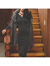 baratos -Mulheres Básico Tricô Vestido Longo