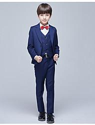 Недорогие -Темно-синий Полиэфир Детский праздничный костюм - 1 комплект Включает в себя Жилетка