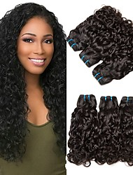 Недорогие -6 Связок Бразильские волосы Прямой Волнистые 8A Натуральные волосы Необработанные натуральные волосы Wig Accessories Головные уборы Человека ткет Волосы 8-28 дюймовый Естественный цвет