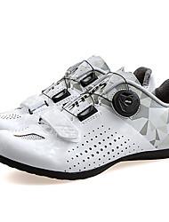 Недорогие -SANTIC Взрослые Обувь для шоссейного велосипеда Дышащий Противозаносный Амортизация Велосипедный спорт / Велоспорт Для велоспорта Лиловый Розовый Серый+Белый Жен. Обувь для велоспорта / Вентиляция