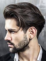 Недорогие -Муж. Натуральные волосы Накладки для мужчин Прямой 100% ручная работа Мягкость
