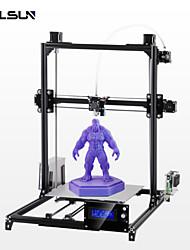 baratos -Flsun-c2 kit de impressora 3d diy tamanho grande impressão 300 * 300 * 420mm auto nível aquecido cama dois rolos de filamento