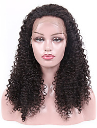 Недорогие -Remy Лента спереди Парик Бразильские волосы Kinky Curly Парик Стрижка боб 130% Плотность волос Лучшее качество Новое поступление Горячая распродажа Жен. Средние