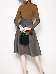 povoljno -Žene Ulični šik Set - Color block Haljine