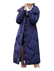رخيصةأون -نسائي رمادي أخضر داكن كاكي XL XXL XXXL معطف أساسي لون سادة