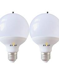 Недорогие -EXUP® 2pcs 15 W 1400 lm E26 / E27 Круглые LED лампы G95 24 Светодиодные бусины SMD 2835 Очистка воздуха Тёплый белый / Холодный белый 220-240 V