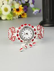 Недорогие -FEIS Жен. Дамы Часы-браслет Кварцевый Секундомер сплав Группа Аналого-цифровые Мода Серебристый металл - Красный