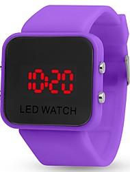 Недорогие -Для пары Спортивные часы Цифровой силиконовый Черный / Белый / Синий Календарь Секундомер С двумя часовыми поясами Цифровой Кольцеобразный Цветной - Зеленый Синий Розовый Один год Срок службы батареи