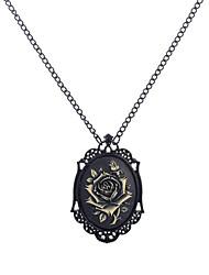 رخيصةأون -نسائي فينتاج قلائد الحلي - وردة عتيق, Steampunk أسود 56 cm قلادة مجوهرات 1PC من أجل حفل / مساء, شارع