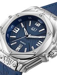 Недорогие -ASJ Муж. Спортивные часы Японский Японский кварц Натуральная кожа Черный / Синий 100 m Защита от влаги Календарь Аналоговый На каждый день Мода - Белый Синий Один год Срок службы батареи / SSUO AG4