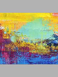 Недорогие -Hang-роспись маслом Ручная роспись - Абстракция Modern Без внутренней части рамки / Рулонный холст