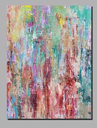 abordables -Peinture à l'huile Hang-peint Peint à la main - Abstrait / Paysage Contemporain / Moderne Inclure cadre intérieur / Toile roulée / Toile tendue