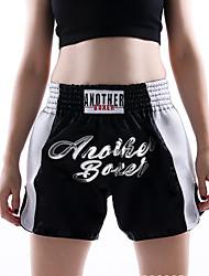 Недорогие -Шорты для Муай Тай / Боксерские шорты Назначение Боевые искусства, ММА, Грэпплинг, UFC Эластичный пояс Вышивка Дышащий, Быстровысыхающий, Пригодно для носки Полиэстер Взрослые / Дети -