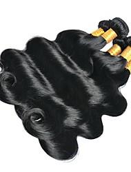 Недорогие -6 Связок Бразильские волосы Индийские волосы Естественные кудри 8A Натуральные волосы Необработанные натуральные волосы Подарки Косплей Костюмы Головные уборы 8-28 дюймовый Естественный цвет