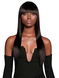 Недорогие -человеческие волосы Remy 360 Лобовой Парик Глубокое разделение стиль Бразильские волосы Вытянутые Нейтральный Парик 150% 180% Плотность волос / с детскими волосами / с детскими волосами